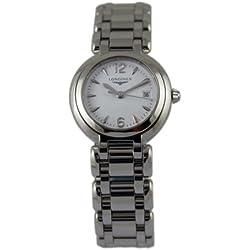 Watch Longines Primaluna Quartz l81104166(Rechargeable) quandrante White Strap Stainless Steel