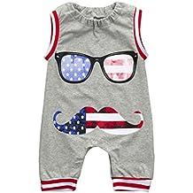 Zolimx Ragazzo, Bambino, T-Shirt, Bandiera Degli Stati Uniti Neonato Bambino Bimbo Bambini Romper Tuta Occhiali Vestiti Abiti