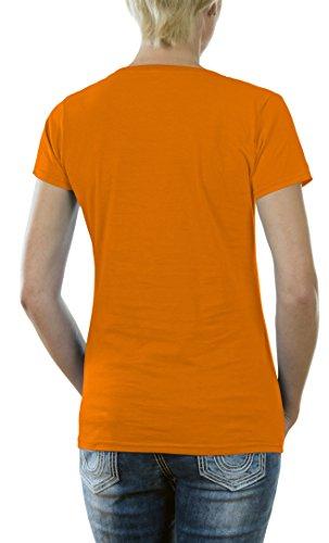 Touchlines T-shirt pour fille de Lost avec le logo Dharma Orange