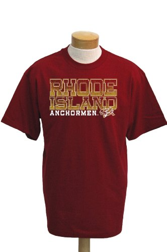 CI Sport NCAA Rhode Island Anchormen Acho T-Shirt mit kurzen Ärmeln, Herren, Scharlachrot, XX-Large -