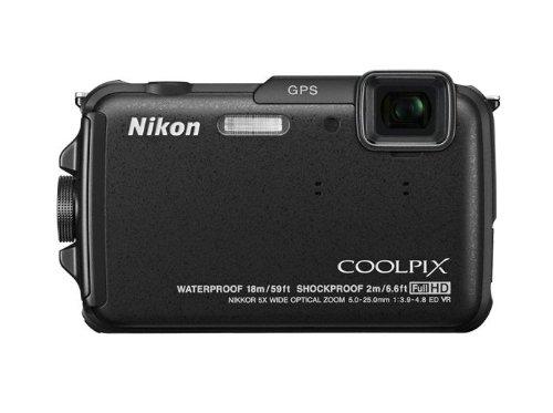 """Nikon Coolpix AW110 - Cámara compacta de 16 Mp (pantalla táctil de 3"""", zoom óptico 5x, estabilizador híbrido, WiFi, GPS), negro"""