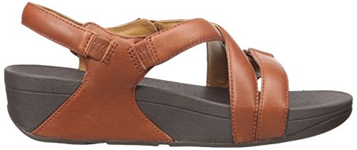Fitflop Damen The Skinny Sandal, Schwarz Brown (dark Tan)
