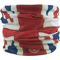 Braga para el cuello, pañuelo de microfibra multifunción, diseño de Bandera de Union Jack inglaterra afligido