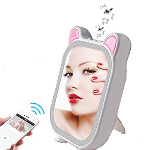 Kompaktspiegel kompaktspiegel mit led Kreativer leichter Musikrhythmusschminkspiegel USB, der Bluetooth-Verbindung auffüllt, füllte hellen Make-upspiegel Bluetooth Kompaktspiegel badspiegel kompaktspi