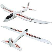 MinusK 90CM Glider, Manual Throwing, Fun, Outdoor Sports Toy, Model Foam Airplane, Blue & Orange Airplane