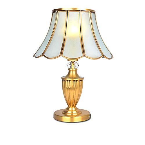 Habitación modo de lámpara de latón de cobre lámpara de noche corto tabla de materiales Cooper 5W Americana conducto de la lámpara de iluminación LED