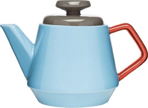 Sagaform Pop Théière en céramique, turquoise/rouge/marron