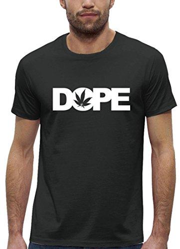 Hip Hop Premium Herren T-Shirt aus Bio Baumwolle mit Dope Cannabis Marke Stanley Stella Anthrazite