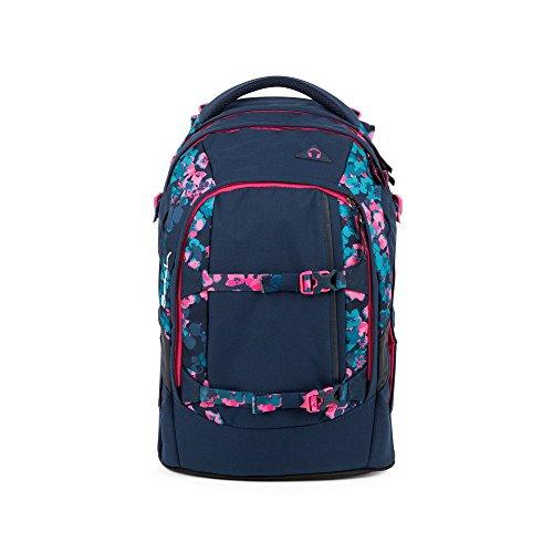 SATCH Awesome Blossom Kinder-Rucksack, Blau Pinke Blümchen