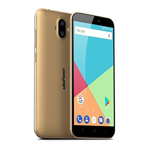Ulefone S7 (2GB+16GB) - Smartphone libre Textura de superficie 3D única, 5.0'HD 720*1280 pixels, Android 7.0, 2GB RAM+16 GB ROM, Batería 2500mAh, Cámara de 13+5MP/5MP, MTK 6580A procesor Quad-core 32-bit 1.3GHz CPU,Dual SIM (Oro)