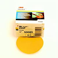 3 M Hookit Gold 255P Velcro Abrasive Disk, 76 mm Pack of 50 P 80 50088 - ukpricecomparsion.eu