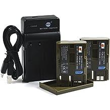 DSTE BP-511 Li-ion Batería (2 paquetes) Traje y cargador micro USB para Canon BP-511 BP-511A