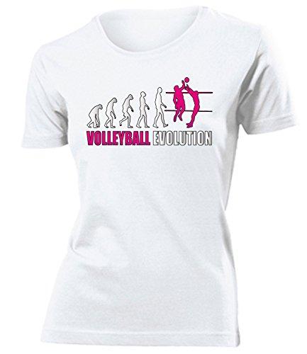 Sport - VOLLEYBALL EVOLUTION - Cooles Fun Donna Maglietta Taglia S to XXL vari colori bianco / Rosa