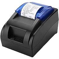 ASHATA Impresora de Tickets Térmica, Impresora Bluetooth Portátil,USB Impresora Universal Compatible con Windows, Linux, Android y iOS.(90 mm/SY,384 Puntos/línea,3.75mm Ajustable)(Plug UE.)