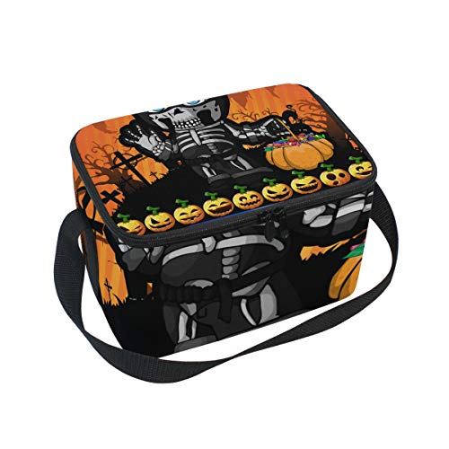 SKYDA Lunchpaket Box Insulated Lunchpaket Bag Large Cooler Halloween Poster with Boy Tote Bag for Men, Women, Girls, Boys