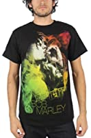 Bob Marley - - Guitare T-shirt de fumée Homme En Noir