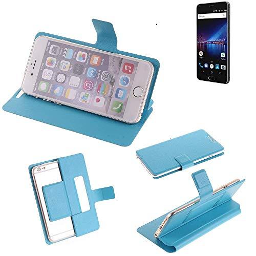 K-S-Trade Flipcover für Phicomm Passion 4 Schutz Hülle Schutzhülle Flip Cover Handy case Smartphone Handyhülle blau