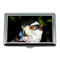 Yanteng Cigarette Case/Box,owl pellets Falconry Goshwak by Guillermo Gefaell,Business Card Holder Business Card Case Stainless