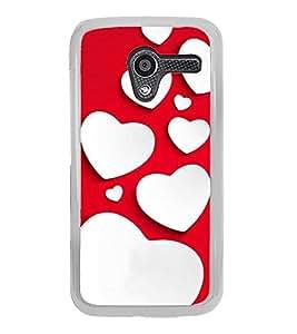 Fuson Designer Back Case Cover for Motorola Moto X :: Motorola Moto X (1st Gen) XT1052 XT1058 XT1053 XT1056 XT1060 XT1055 (Love Love Hearts Infactuation Together In Relationship)