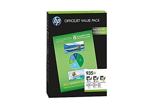 HP 935X L Office Value Pack-Tintenpatrone für Drucker (Cyan, Magenta, gelb, hoch, 825Seiten) -