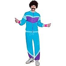 amscan 9905148 80's Blue Shell Suit for Men Costume Set, Adult XL-2 Pc