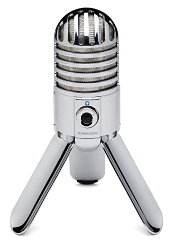 Samson Meteor Mic USB Studio/Podcast Mikrofon silber (Pro Macbook Fall Men)
