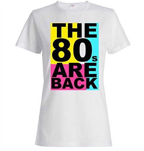 The 80s are back funny logo Women's T shirt - Grey or White - S to XXL