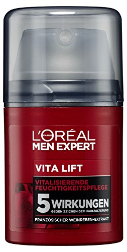 L'Oreal Men Expert Vita Lift Feuchtigkeitspflege, mildert Falten, strafft die Haut und versorgt sie mit Feuchtigkeit, 50 ml (Anti-falten Pflege Expert)