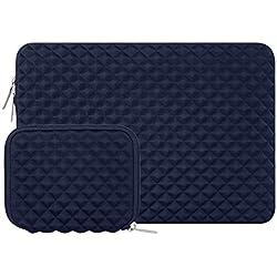MOSISO Housse Compatible avec 13-13,3 Pouces MacBook Pro, MacBook Air, Notebook Tablet, Anti-Chocs Néoprène Hydrofuge Laptop Sleeve avec Petite Pochette, Bleu Marin