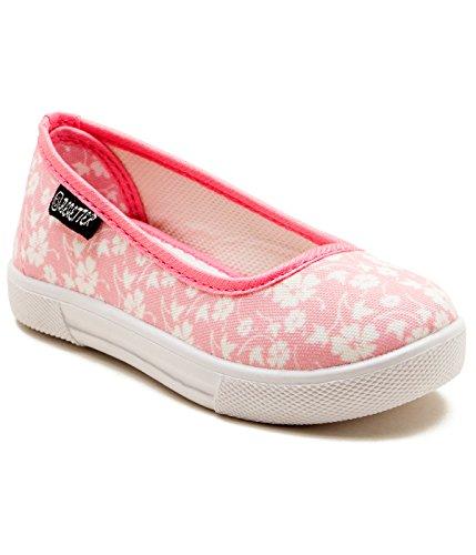 Begetter The Inceptioner Girls Pink Canvas Ballet Flats