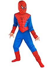 Fancydresswale Spiderman Costume For Kids (Medium (4-6 Yrs) - Blue And Red