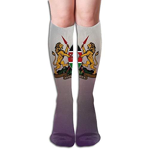 Dnim Wappen von Kenia Design elastische Mischung lange Socken Kompression Kniestrümpfe (50 cm) für den Sport -