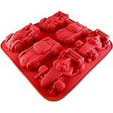 Molde de silicona 6in1coches Rojo Molde