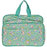 Sharma Clothing-New Born Baby Multipurpose Mother Bag With Holder Diapper Changing Multi Compartment For Baby Care And Maternity Handbag Messenger Bag Diaper Nappy Mama Shoulder Bag Diaper Bag For Baby Multipurpose Mother Bag Cotton Fabric (Light Green)