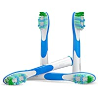 (1x4) Sonic cabezales para cepillos, compatibles con los mangos de cepillos de diente electrónicos de Oral-B..