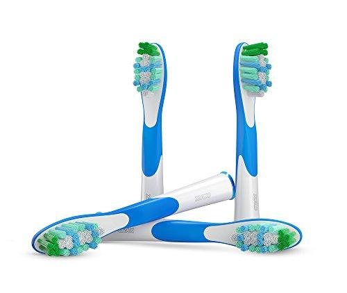 4 pzs. (1x4) Sonic cabezales para cepillos, compatibles con los mangos de cepillos de diente electrónicos de Oral-B Sonic. Substitutos para el SR12, SR18. Completamente compatibles con Oral-B Sonic Complete y Oral-B Vitality Sonic. Sustitutos de ORAX® PearlClean.