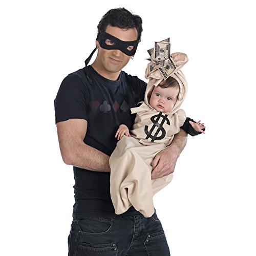 Bankräuber Familienkostüm - Babysack und Maske - (Bankräuber Kostüme)