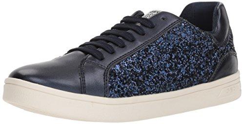 Geox Mädchen J Djrock  D Low-top Sneaker, Blau (Navy), 30 EU
