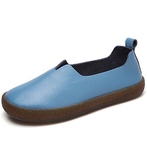 Aleader  Loafers, Damen Mokassins Blau