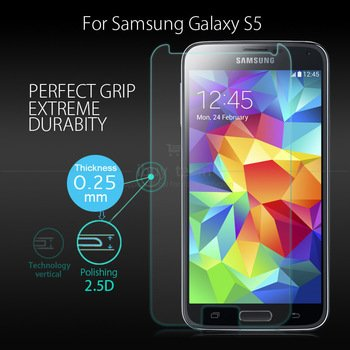 M.G.R Samsung Galaxy S5 [3D Touch Compatible - Tempered Glass]...