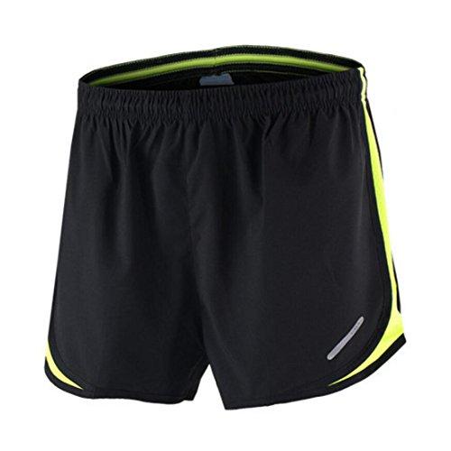 n Shorts Sport Laufhose Kurz mit Innenslip grün M ()
