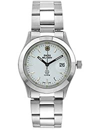 Swiss Military 6-5023-WHT-STL Stainless Steel Date Women Watch