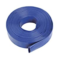 "Blue Layflat Water Discharge Hose Pipe Pump Irrigation - 32mm (1 1/4"") Bore x 20 Metres Long 28"
