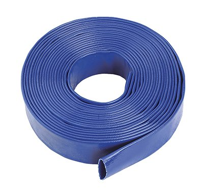 "Blue Layflat Water Discharge Hose Pipe Pump Irrigation - 32mm (1 1/4"") Bore x 20 Metres Long 1"