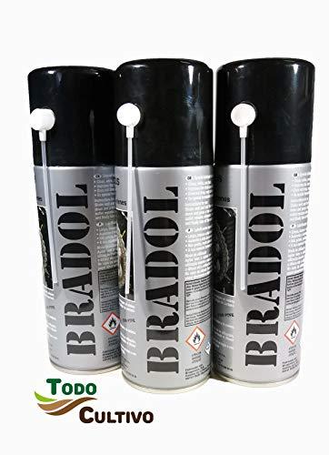 BRADOL Cadenas 400 ml. Pack 3 unidades. Lubricante para cadenas de motos...