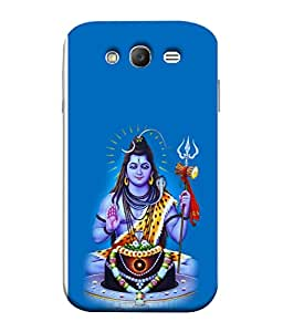PrintVisa Designer Back Case Cover for Samsung Galaxy Grand I9082 :: Samsung Galaxy Grand Z I9082Z :: Samsung Galaxy Grand Duos I9080 I9082 (Beautiful Shiva shankar in blue background)