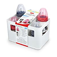 NUK 10225088 - Disney Mickey Mouse First Choice Starter Set mit 4 Anti-Colic Weithalsflaschen 2 x 150 ml und 2 x 300 ml mit Silikonsauger und Flaschenbox