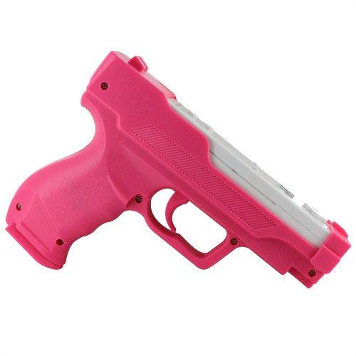Skque Motion Plus Gun Pistole Adapter für Nintendo Wii Remote Controller Fernbedienung, pink