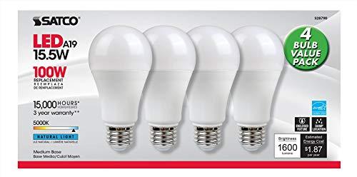 Satco S28790 15.5A19/LED/50K/ND/120V/12 Stück -
