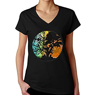 Jing Jang Logo Tree Women's V-Neck T-Shirt XX-Large